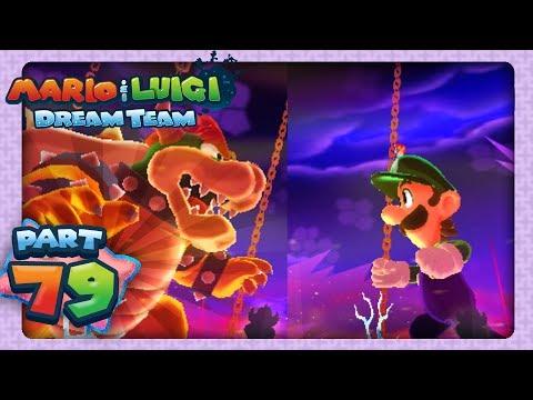 Mario & Luigi: Dream Team - Part 79 - Giant Bowser Battle