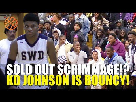 SOLD OUT SCRIMMAGE!? KD Johnson Gets BOUNCY For The Crowd At Southwest Dekalb!