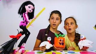 Monster High ile Cadılar Bayramı partisi için hazırlık