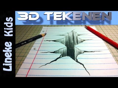 3d tekening gat of ravijn tekenen makkelijk voor beginners for Tekenen 3d