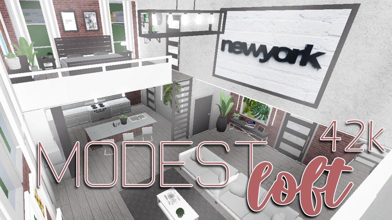 Roblox Welcome To Bloxburg Modest Loft 42k Youtube