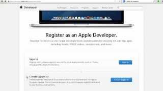 Signing Up for an Apple iOS Developer Account