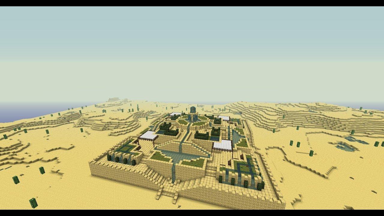 Minecraft - Desert water garden tutorial - YouTube