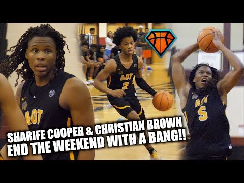 Sharife Cooper & Christian Brown END THE WEEKEND WITH A BANG at #IHTOC!! | COMBINE for 50+