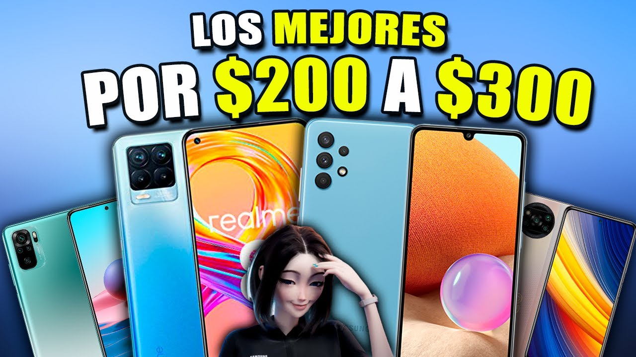TOP MEJORES CELULARES de $200 a $300 que VALEN LA PENA actualmente (GAMA MEDIA)