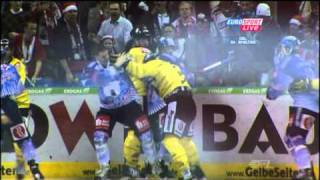 Ustorf Hooligan + A. Rankel (Eisbären Berlin) vs. Boris Blank (Krefeld Pinguine) 21.12.2010