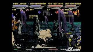 Guilty Gear Isuka PlayStation 2 Gameplay - Four-player