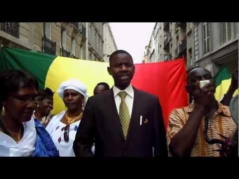 Marche pour l'union et la paix au Mali. Paris, le 28 juillet 2012