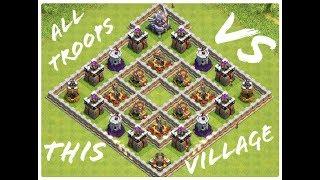 All Troops coc VS this village || lisez la description || Siphano222
