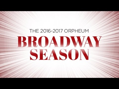 Announcing the 2016-2017 Broadway Season