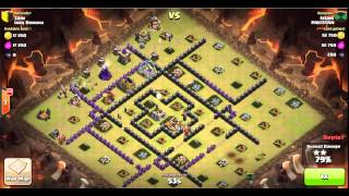 How to 3 Star a max TH9 base in Clan wars with gowipe