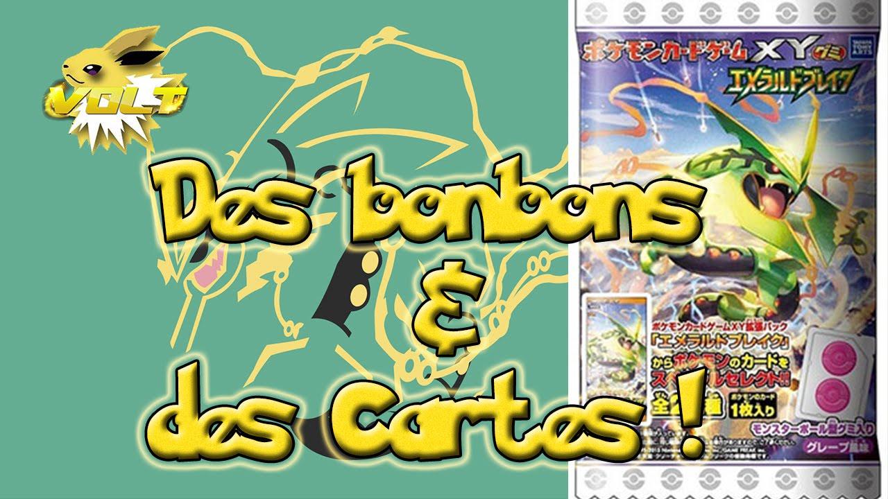 [Volt] Ouverture de 20 booster Pokémon Bonbons + Cartes XY6 ! Emerald Break avec bonbons !