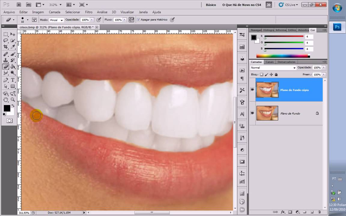 Photoshop Cs5 Dentes Brancos Youtube