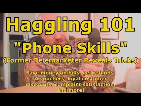 Haggling 101 Phone Skills How To Haggle Bartering 101 How To