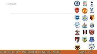 Lịch thi đấu Ngoại hạng Anh vòng 10 [2018-2019]