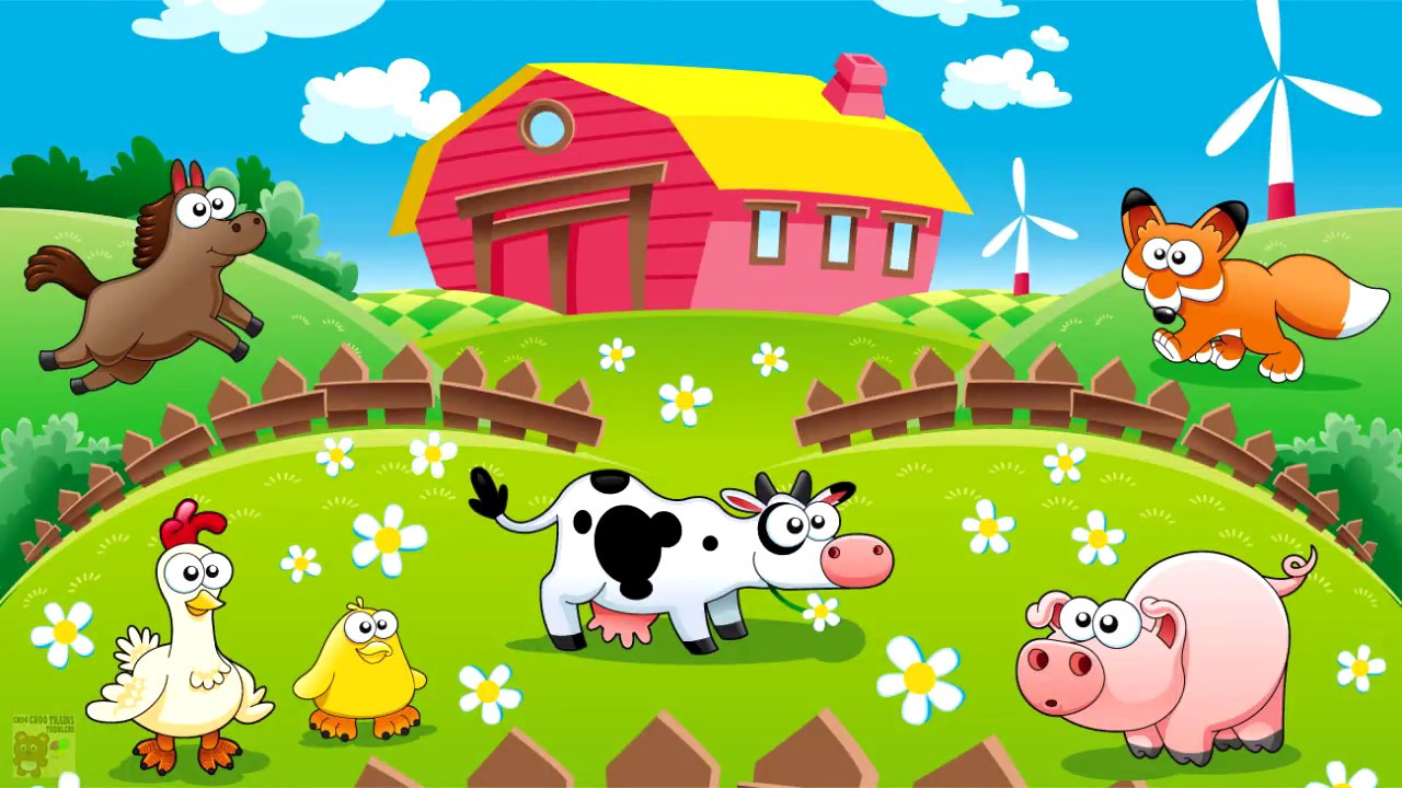 Farm Animals Name And Sound Kids Fun Educational Learning Video