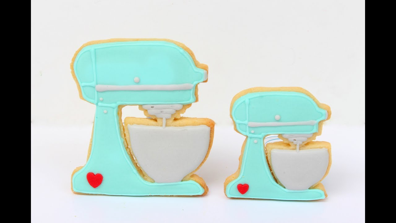 Kitchen Aid Stand Mixer Cookies | Cut out cookies by hand - YouTube