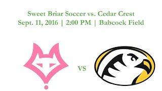 Sweet Briar Soccer vs. Cedar Crest