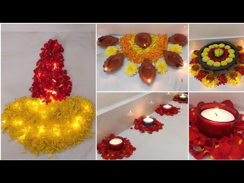 4 Easy Diwali Decoration Ideas At Home   Diwali Home Decor    DIY   Home Decor   Diwali Decoration