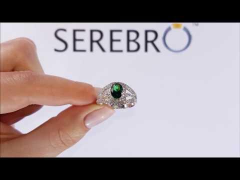 Серебряное кольцо с изумрудом нано Шанс ПДК65НИ
