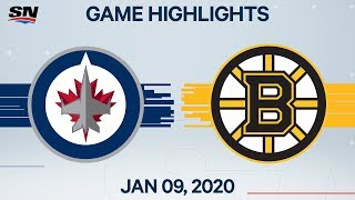 NHL Highlights   Jets vs. Bruins – Jan. 9, 2020