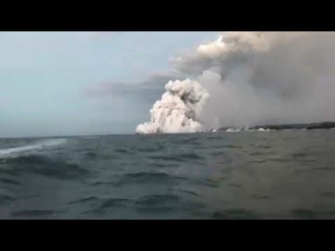 Explosão de lava provoca 23 feridos no Havai