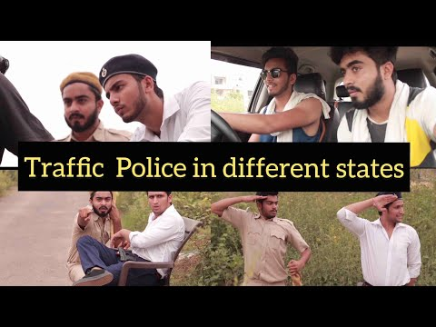 TRAFFIC POLICE IN DIFFERENT STATES- Elvish Yadav