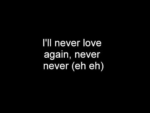 Taio cruz i'll never love again (Lyrics HQ)