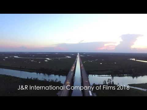 Interstate 10 in Pascagoula, Mississippi Drone Test Shot