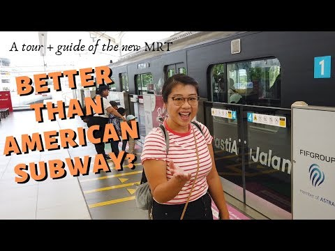 First Impressions of Jakarta MRT (Indonesia's First Underground Subway!)