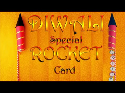 DIY | How To Make Rocket | Diwali Greeting | Paper Craft | Bharti's Creative Art And Craft