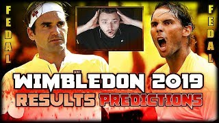 Wimbledon 2019 - Quarterfinal Results and Semifinal Predictions