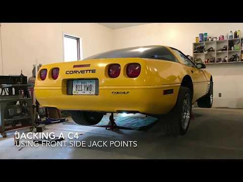 Jacking a C4 Corvette