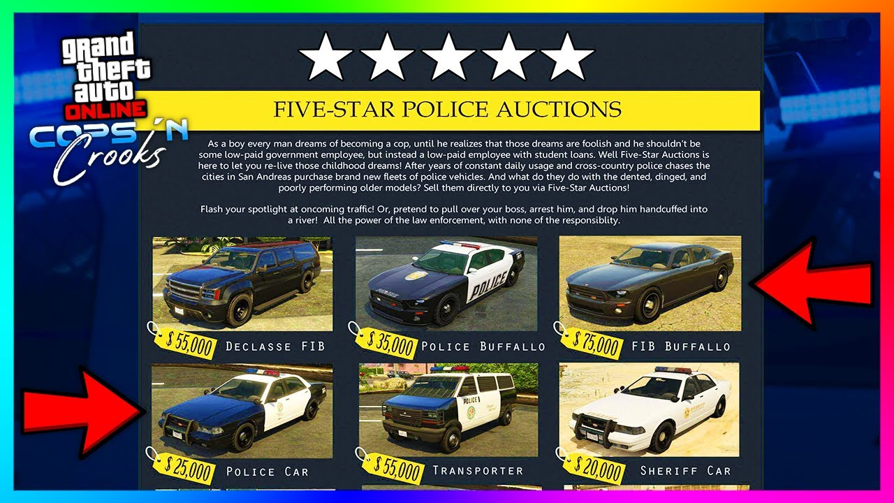 Buying Cop Cars & Police Vehicles In GTA 5 Online....Found In The Los Santos Summer Special Upda