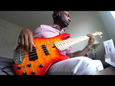 Bruno Mars- 24K Magic Live (Bass Cover)