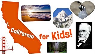 California for Kids | US States Learning Video
