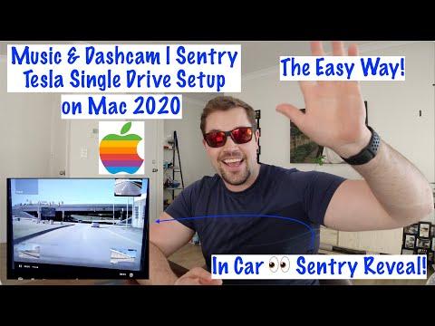 Easy Music & Dashcam | Sentry Tesla Storage Drive Setup On Mac 2020