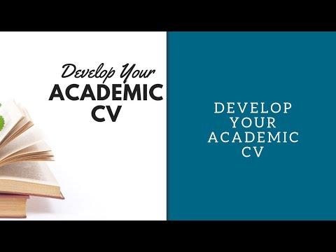 Develop Your Academic CV
