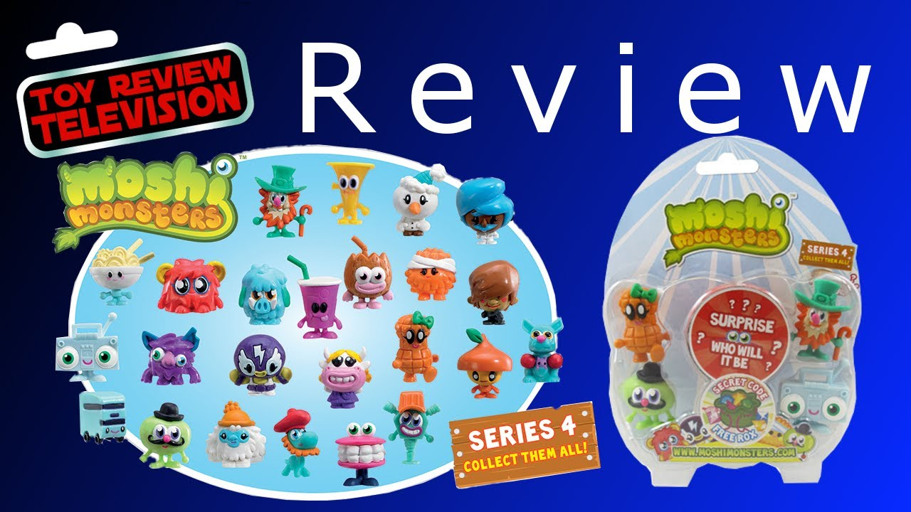 moshi monsters series 4 5 pack review unboxing youtube. Black Bedroom Furniture Sets. Home Design Ideas