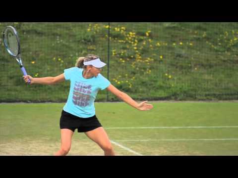 Sharapova - Kvitova Practice Ahead Of Wimbledon Final