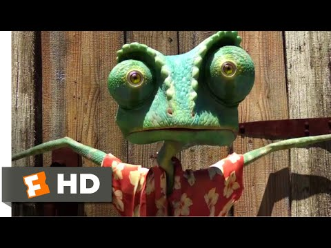 Rango (2011) - Showdown With The Hawk Scene (4/10) | Movieclips