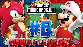 Sonic & Mario in New Super Mario Bros Wii - Co Op 100% - Part 6