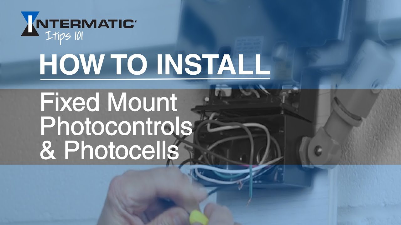 How to Install Fixed Mount Photocontrols / Photocells - YouTube
