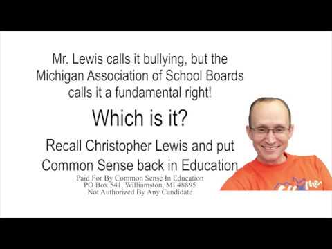 Recall Christopher Lewis - Fundamental Right!