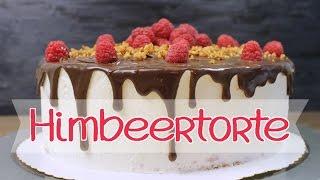 HIMBEERTORTE backen | Sahnetorte mit Himbeer Mascarpone Creme [Drip Cake | deutsch]