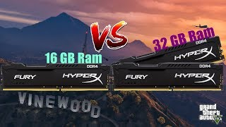 16 GB vs 32 GB Ram test GTA V 1600 mhz vs 2400 mhz