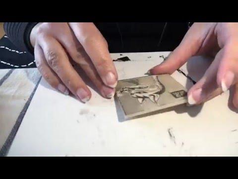 Ex Libris stamp carving