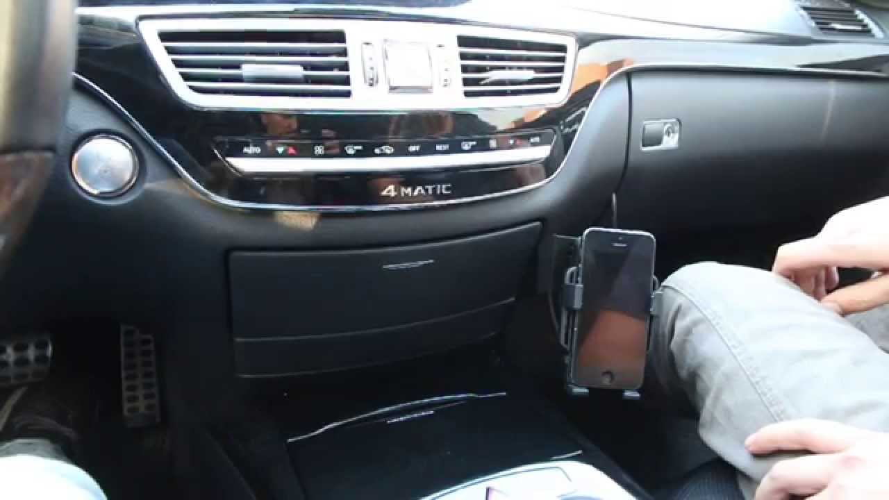 Mercedes S-Class 2007-2013 (W221) InDash Phone Holder Installation by GTA Car Kits - YouTube