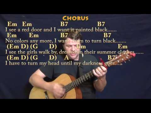 Paint It, Black (The Rolling Stones) Strum Guitar Cover Lesson with Chords/Lyrics  - Capo 1st