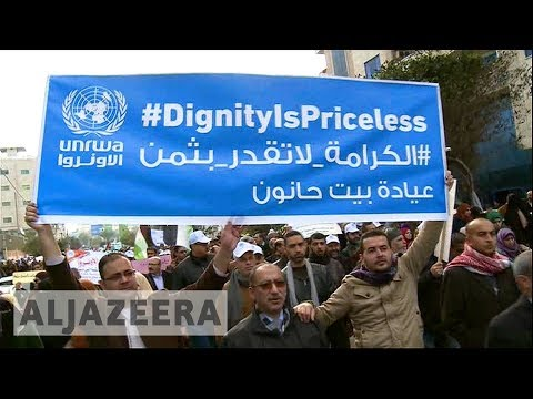 🇵🇸 Thousands protest against planned UNRWA aid cuts